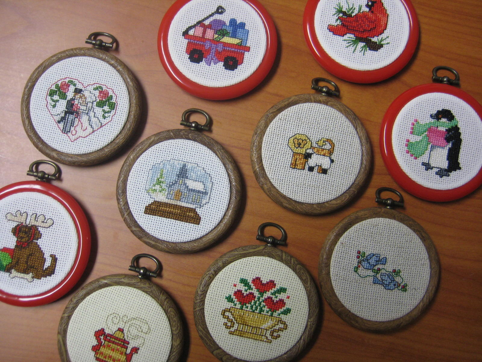 Embroidered christmas ornaments - Heirloom Christmas Ornaments