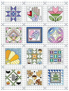 Mini Quilt Blocks to Cross Stitch Â« Kooler Design Studio Blog : cross stitch quilt kits - Adamdwight.com