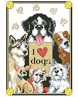 Can't love them enough! This clever canine cross stitch design with six adorable dogs has everything you need to add dog-loving personality to your home! The vibrant colors and whimsical pups brighten your home and your day! Enjoy stitching them for yourself or as gifts for your pup-loving friends and family.