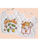 Buttons & Bow Bib Pair