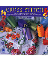 The calendar features twelve months each of Cross Stitch pictures and how-to patterns, charts, and instructions. This calendar's dates match the years 2024