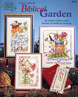 Cross Stitch Biblical Garden is full of inspiring words from the Bible intermingled with flowers and fruits from the garden.