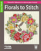 Beautiful blooms to adorn your home. 16 pages of cross stitch blossoms to stitch up on towels, bookmarks, pillows and more.