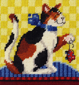 Here's a nice carry around project for a cat lover.