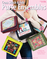 Indulge your passion for fashion and cross stitch as you create beautiful felt purses and accessories.