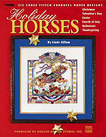 Hop on your favorite steed and enjoy a vicarious carousel ride as you stitch these cross stitch designs celebrating special holidays throughout the year...Valentine's Day, Easter, Fourth of July, Halloween, Thanksgiving, and Christmas. These delightful carousel horses by Linda Gillum are extraordinary examples of her award-winning needlework.