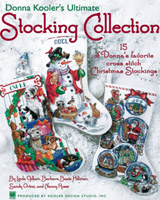 A beautiful cross stitched stocking is a keepsake that will be cherished for a lifetime. From the fabulous stocking designs created by the world famous artists at Kooler Design Studio, Donna Kooler has selected 15 of her favorites that you¹re sure to love. Alphabets are included for easy personalization, along with assembly instructions for the perfect finish.