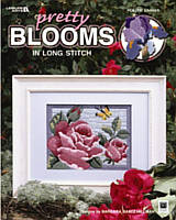 5 frameable floral designs by Barbara Baatz Hillman. Absolutely beautiful long stitch flowers, are perfect for gift-giving or home decor.