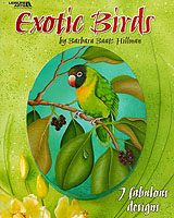 Barbara Baatz Hillman's exotic birds shine with brilliant colors and enchanting personalities.