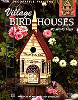 Paint a delightful village of birdhouses to decorate your home and garden.