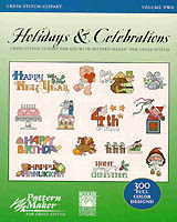 Holidays and Celebrations. The Cross-Stitch Clipart Volume 2 includes over 300 Holiday and Celebration designs by Kooler Design Studio. Use these professionally created designs with Pattern Maker for cross-stitch to enhance your own cross-stitch creations.