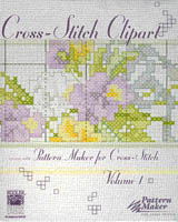 The Cross-Stitch Clipart Volume 1 includes over 300 designs by Kooler Design Studio. Use these professionally created designs with Pattern Maker for cross-stitch to enhance your own cross-stitch creations.