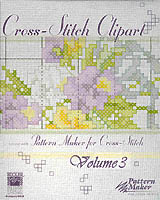 The Cross-Stitch clipart CD Rom includes over 300 designs by Kooler Design Studio. Use these professionally created designs with Pattern Maker for Cross-Stitch to express your own creativity.
