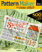 "Pattern Maker is an easy-to-use Windows program which lets you create personalized cross-stitch patterns. Combine Pattern maker Special edition with over 500 design elements by ""virtually"" stitching them with your mouse; so fun, and fast, you'll be amazed!"