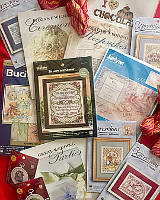 Give yourself a sweet surprise this Valentine's Day with our Mystery box full of rare cross stitch and needlework kits, patterns, books, yarn and more! A value of over $100 for only $29.