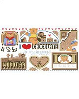 How do you say Chocolate? Any way you say it and in any language, chocolate is wonderful, decadent and delicious. The world needs more of a good thing and chocolate is the universal word for yummy. The Kooler Design Studio team of designers has been creating cross stitch designs for over 30 years.