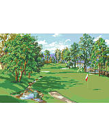 Take a swing at this golf course design for cross-stitch and make a hole-in-one.