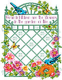 Grandchildren Are Flowers - PDF: Commemorate the names of all your grandkids with this beautiful garden design.