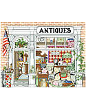 Village Antiques Shop - PDF: Take a walk down memory lane. This depiction of an old-town antique shop will surely bring you a bit of nostalgia for days gone by at Grandmother's house.
