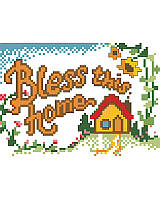 Celebrate your home and family with this thoughtfully created cross stitch sign that brightens your living space with heartwarming charm.