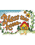 Bless This Home - PDF: Celebrate your home and family with this thoughtfully created cross stitch sign that brightens your living space with heartwarming charm.