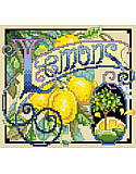 Lemons - PDF: When life gives you lemons, decorate your home with this vibrant citrus-inspired cross stitch art!