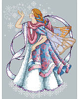 This chilly Faerie blowing icy kisses by Barbara Baatz is the perfect accent to any faerie lover's winter décor! It features an ice pixie, clad in cozy pastels with transparent wings that shimmer with wintery snowflakes.