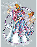 Frost Faerie - PDF: This chilly Faerie blowing icy kisses by Barbara Baatz is the perfect accent to any faerie lover's winter décor! It features an ice pixie, clad in cozy pastels with transparent wings that shimmer with wintery snowflakes.