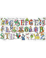 Fairytale alphabet cross stitch art made for a prince or princess! Encourage their imagination to grow along with wizards, mermaids and faerie's, while they learn their ABC's. Stitch up a name sign with specific letters or the entire alphabet as a sampler. Part of the Kooler baby collection, this alphabet is sure to create a 'happily ever after' for your special one.
