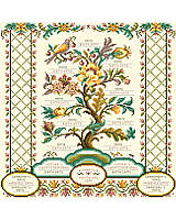 This heirloom family registry is our most elaborate and detailed family tree design ever created by Kooler Design. It includes all family members for four generations. A perfectly personalized family tree will be cherished.