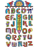 Lovers of folk art with a South of the Border, colorful theme will love this stunningly vibrant alphabet.