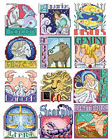 Celebrate the astrological star signs and all the best qualities that come with them while adding sweet whimsy to the walls of your home with this cross stitch art. From Capricorn to Sagittarius you won't have to worry about Mercury being in retrograde, because this fun cross stitch set will keep the stars ever in your favor. Stitch one for a friend or all 12!
