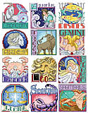 Zodiac Signs - PDF: Celebrate the astrological star signs and all the best qualities that come with them while adding sweet whimsy to the walls of your home with this cross stitch art. From Capricorn to Sagittarius you won't have to worry about Mercury being in retrograde, because this fun cross stitch set will keep the stars ever in your favor. Stitch one for a friend or all 12!