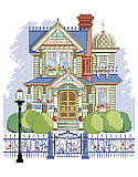 Victorian Charmer - PDF: A charming Victorian with a front gate that proclaims Home Sweet Home.