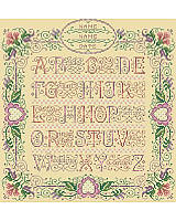 This lovely A to Z Wedding Sampler would be cherished by any bride and groom as a keepsake of their marriage. The design stands the test of time.