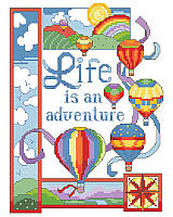 Get ready for high-flying fun with this aerodynamic hot air balloon design with a sweet uplifting message!