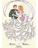 First Dance - PDF: The happy pair takes their first twirl around the dance floor as a married couple. Celebrate your most magical day with this wedding-themed design.