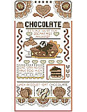 Chocolate Sampler - PDF: Add a sweet touch to your home décor with this delicious sampler!