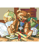 Add a vintage touch to your child's playroom or library with this heirloom-inspired teddy bear design.