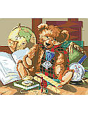 Heirloom Bear - PDF: Add a vintage touch to your child's playroom or library with this heirloom-inspired teddy bear design.