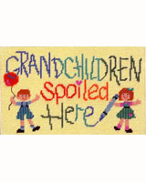 What a delightful needlepoint of any grandmother!