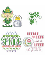 A new collection of adorable St. Patrick's Day and other Spring motifs.