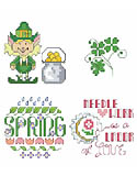Spring Collection - PDF: A new collection of adorable St. Patrick's Day and other Spring motifs.