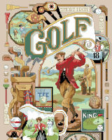 Antique Memorabilia and images of the golf scene revive memories of a fun-loving relaxing sport!