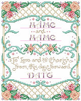 This lovely sampler is a perfect keepsake for the bride and groom.