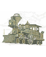 This design of an antique locomotive reminds us of a past.