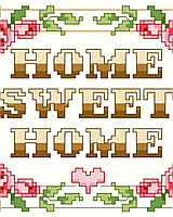 The epitome of classic cross stitch, 'Home Sweet Home' says it all and will fit into any traditional or retro décor.