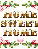 Home Sweet Home Big Stitch - PDF: The epitome of classic cross stitch, 'Home Sweet Home' says it all and will fit into any traditional or retro décor.