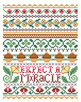 The epitome of classic cross stitch, 'Expect a Miracle' says it all and will fit into any traditional décor.