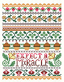Expect A Miracle - PDF: The epitome of classic cross stitch, 'Expect a Miracle' says it all and will fit into any traditional décor.